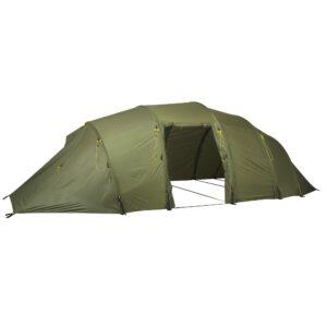 Korkea ja laadukas teltta.